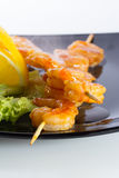 Seafood shashlik Royalty Free Stock Photos