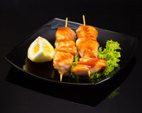 Seafood shashlik Royalty Free Stock Image