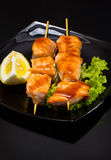 Seafood shashlik Royalty Free Stock Photo