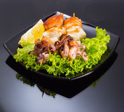 Seafood shashlik Stock Photo