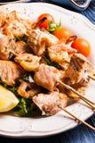 Seafood shashlik Royalty Free Stock Photo