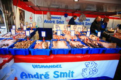 Seafood shop  in Grote Markt Royalty Free Stock Photos