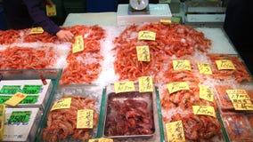 Seafood shop in tsukiji market Stock Image