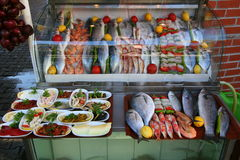 Seafood showcase Stock Image