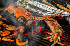 Seafood Shrimp Grill Royalty Free Stock Images