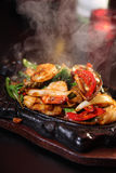 Seafood sizzling Royalty Free Stock Photos
