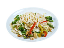 Seafood and somen noodles. Chinese cuisine stock images