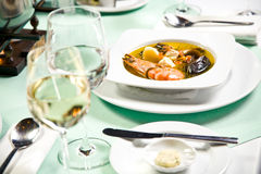 Seafood soup Stock Photography