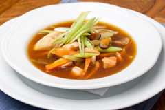 Seafood soup Royalty Free Stock Photo