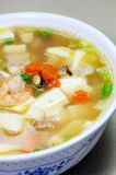Seafood Soup. Close-up of sea food soup Royalty Free Stock Photos