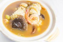 Seafood soup Stock Image