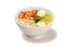 Seafood soup with noodles Royalty Free Stock Photos