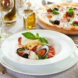 Seafood Spaghetti Royalty Free Stock Photos