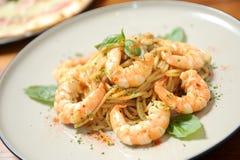 Seafood spaghetti Royalty Free Stock Photo
