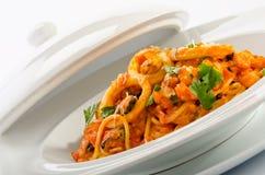 Seafood spaghetti Royalty Free Stock Image