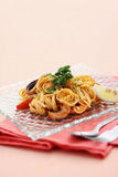 Seafood spaghetti Royalty Free Stock Images