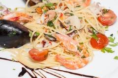 Seafood spaghetti Stock Photography