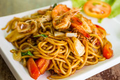Seafood spaghetti. Royalty Free Stock Photography