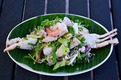 Seafood Spicy Salad Stock Image