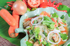 Seafood Spicy Salad Royalty Free Stock Images