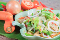 Seafood Spicy Salad Royalty Free Stock Photography