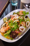 Seafood spicy salad Royalty Free Stock Image