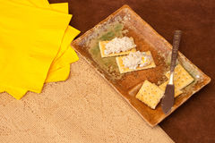 Seafood Spread & Cracker Snack Royalty Free Stock Photo