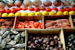 Seafood stall Stock Photography