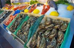 Seafood stall Stock Photo