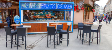 Seafood Stall in Chamonix, France Royalty Free Stock Photo