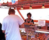 Seafood stall, Volendam. Royalty Free Stock Photography