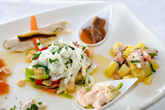 Seafood Starters Mix Royalty Free Stock Image