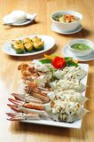 Seafood, steamed crab Stock Image