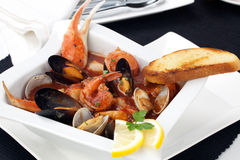 Seafood stew Royalty Free Stock Photography