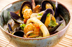 Seafood stew royalty free stock image