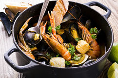 Seafood Stew in Bowl Stock Photography