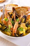 Seafood Stew in Bowl Stock Image