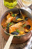 Seafood Stew in Casserole Royalty Free Stock Images