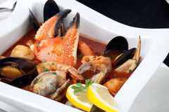 Seafood stew with Crab Claw Royalty Free Stock Photo