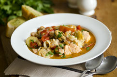 Seafood stew Stock Photos