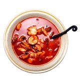 Seafood stew on white background Stock Photography
