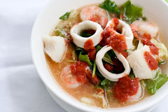 Seafood Sukiyaki. In Thai style which can be found in local Thai restaurant Stock Photo