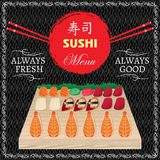 Seafood for sushi menu Royalty Free Stock Photos