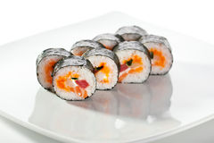 Seafood Sushi Roll Stock Photography