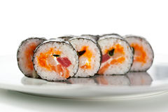 Seafood Sushi Roll Royalty Free Stock Image