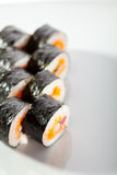 Seafood Sushi Roll Stock Photo