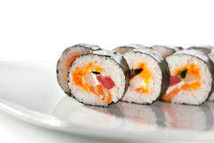 Seafood Sushi Roll Royalty Free Stock Photography
