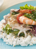 Seafood Sushi Salad Stock Photo