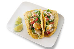 Seafood Tacos - Isolated Stock Photo