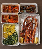Seafood takeout Royalty Free Stock Photo